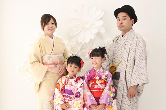 家族みんなで撮れる、七五三の記念写真